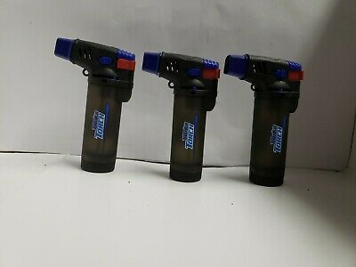 3 pack Turbo Blue XXL Jet Flame Refillable Torch Lighter