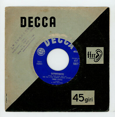 """Rock 'n' roll UK : TOMMY STEELE : Butterfingers - 7"""" ITALY 1958 - very rare !"""