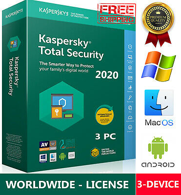 KASPERSKY TOTAL Security 2019 3 Device / 1 Year / Win-Mac-Android / GLOBAL - KEY