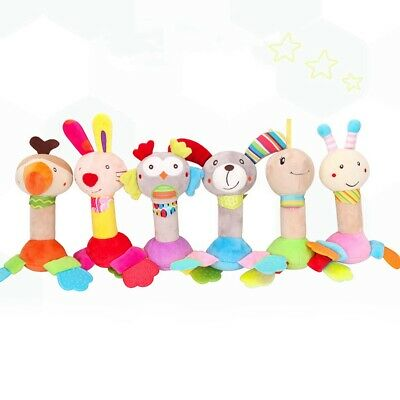 Newborn Baby Bed Stroller Rattle Soft Plush Mobile Toy Kids Bell Crib Doll