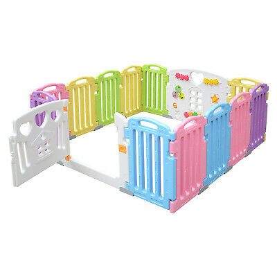 New 14 Panel Safety Play Center Yard Baby Playpen Kids Home Indoor Outdoor Pen
