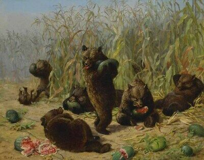 Beard Holbrook William Plundering The Watermelon Patch Print 11 x 14   #5672
