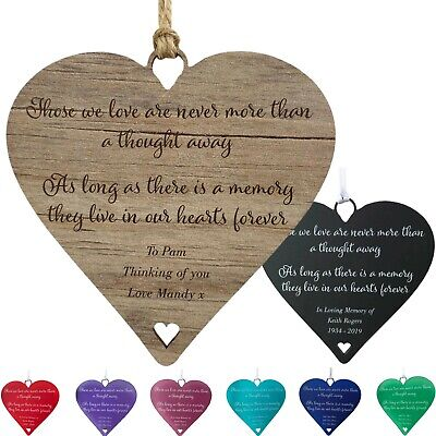 Thinking of You Gifts Personalised In Loving Memory Sympathy Cards Friend Plaque