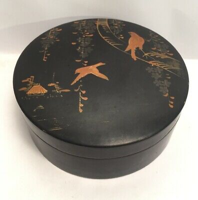 Vintage Chinese Japanese Lacquered Box