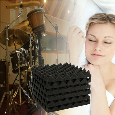 24Pcs Acoustic Wall Panels Tiles Sound Proofing Foam Pads Studio Treatments Tool