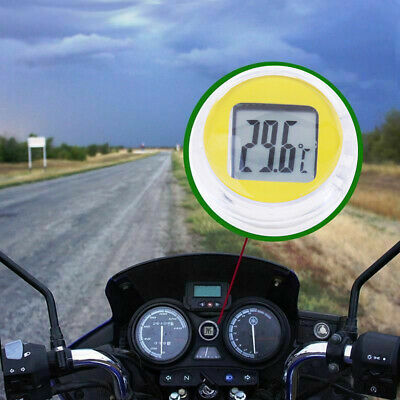 Motorcycle Digital Thermometer Mini Motorbike Clock Car Watches random color