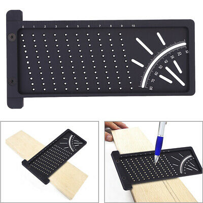 3D Mitre Angle Measuring Square Size Measure Tool With Gauge And Ruler JU5r