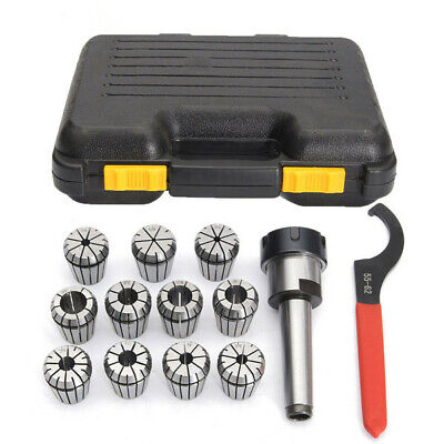 11pcs 1/8-3/4 Inch Collects Set With MT3 1/2 Shank Chuck And Spanner For