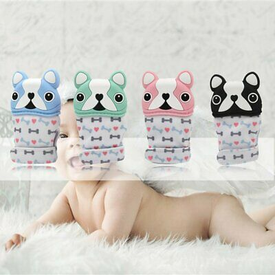French Bulldog Baby Teething Self Soothing Pain Relief Teether Toy Gloves OK