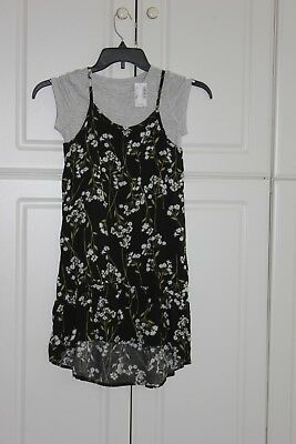 NEW tcp The Childrens Place Dress girls M 7-8 Sundress short sleeve tee