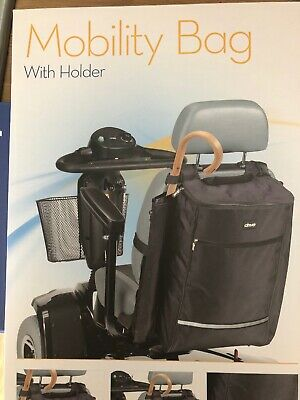 Drive Mobility Scooter Bag With Stick/ Cane/ Crutch Holder