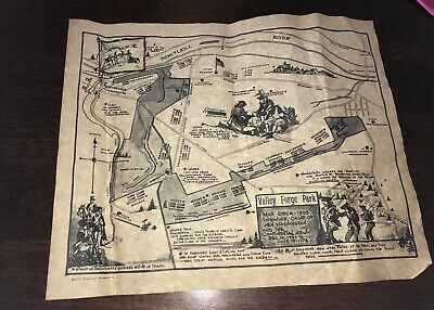 Replica Map Of Valley Forge Park Revolutionary War George Washington