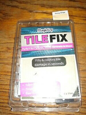 New (opened package) MagicEzy Tile Fix Honey Beige 4x11ml