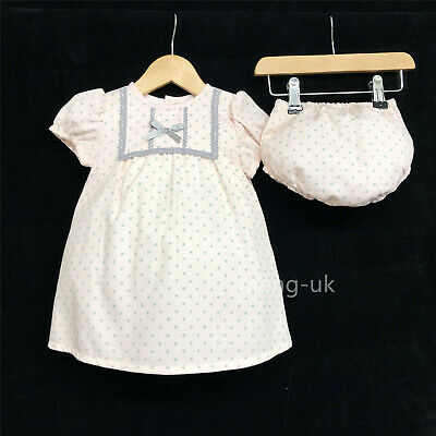 *SALE* Gorgeous Baby Girl Spanish Pink Dot Dress Matching Pants Romany