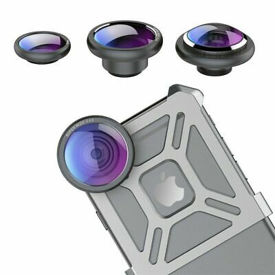 3 in 1 HD Camera Len Kit Fish Eye+Super Wide Angle+Macro Lens For iPhone 6 6S