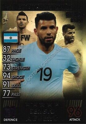 Match Attax 101 Sergio Aguero Silver Limited Edition 2019