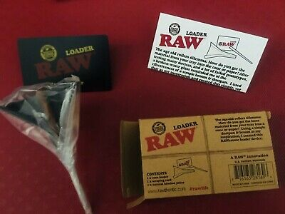 RAW Cone Loader/Filler *Lean & 1 1/4 Sizes* - Includes Card and Poker NEW