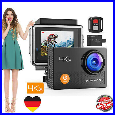 APEMAN A77 Action Cam Camera 4K WiFi 16MP Unterwasser 30m wasserdicht für Sport
