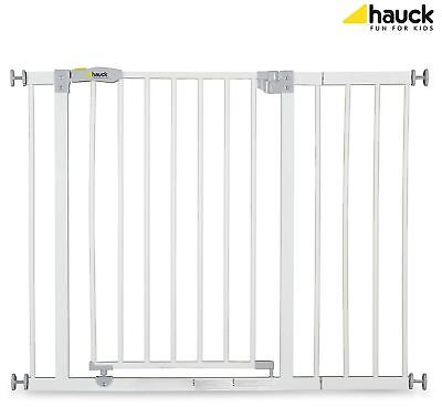 Hauck OPEN N STOP SAFETY GATE + 21CM EXTENSION WHITE Baby/Child Safety BNIP