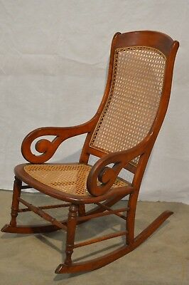 Vintage Antique Cane Wooden Rocking Chair - MINT - Barley Used-Late 1800's/1900s