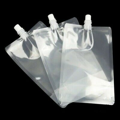 8 x 500ml Pouch Drinks Bag Smuggle Booze Cruise Festival Reusable Genuine UK