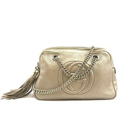7630f6314ede9f AUTHENTIC GUCCI SOHO Tassel Gold Leather Sku# 29212 | Luxcellent ...