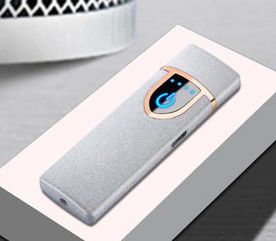 USB Electric Rechargeable Flameless Windproof Touch Induction Lighter