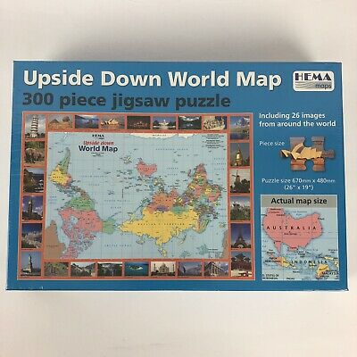 Hema Maps Upside Down World Map 300 Piece Jigsaw Puzzle