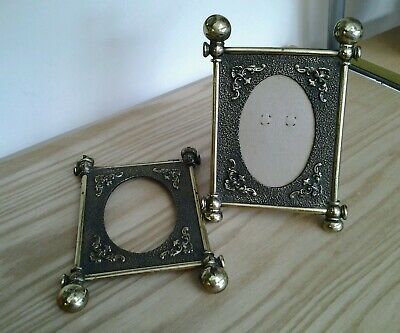 Pair of Vintage Beautiful Ornate Brass effect Metal Photo / Picture  Frames