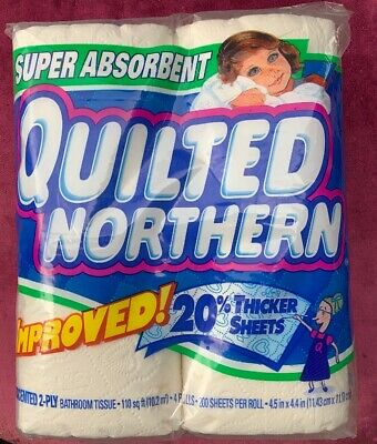 QUILTED NORTHERN NEW OLD STOCK 1990s Toilet Tissue Paper RARE ADVERTISING 4-Pack