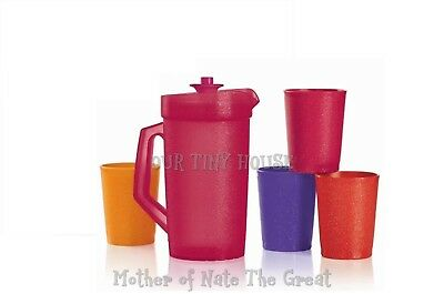 TUPPERWARE SPARKLE MINI Pitcher and Tumblers KIDS PARTY SET SPARKLING Colors NEW