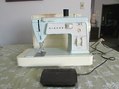 Vintage Singer touch & sew, model 417, portable sewing machine