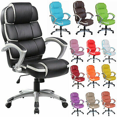 Executive Office Computer Chair Leather Home Luxury Swivel Adjustable High Back