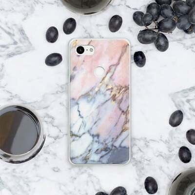 Pink Stone Google Pixel 3 XL Silicone Case For Pixel XL Marble Pixel 2 XL Cover