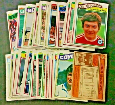 Topps Orange Back Football Cards 1978 nos 1-396 VGC! - Pick The Cards You Need