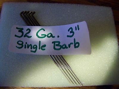"NEW (5) Single Barb Needle-Surface Felting or Doll Hair-32 Gauge-3""-Foster USA"