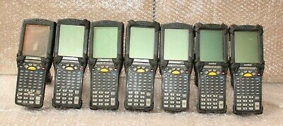 Lot Of 7 - Motorola Mc9060 Hand Held Barcode Scanners @A65