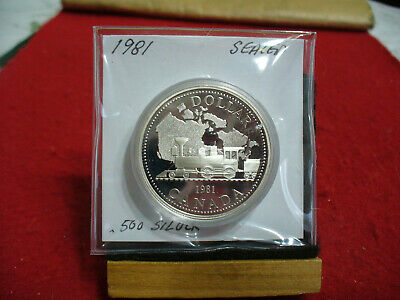1981   Canada  Silver   One  Dollar  Coin   1$   High  Grade   81   Sealed