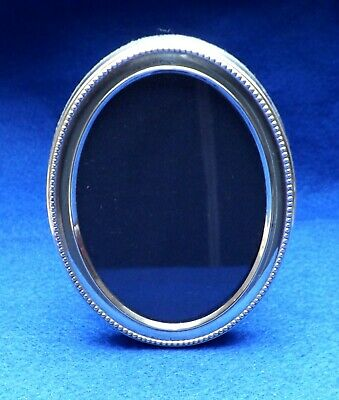 Oval Silver Photo Frame Hallmarked For Sheffield 1997