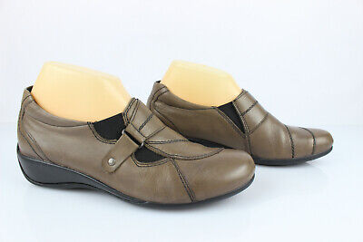 Remonte Shoes Size on Low Wedge Taupe Leather T 38 Very Good Condition