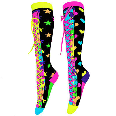 MADMIA Girls CONFETTI Knee High Cool Funny  SOCKS