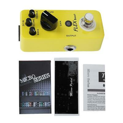 Guitar Effect Pedal Overdrive Boost Mini Pedal LED light True Bypass Foot Switch