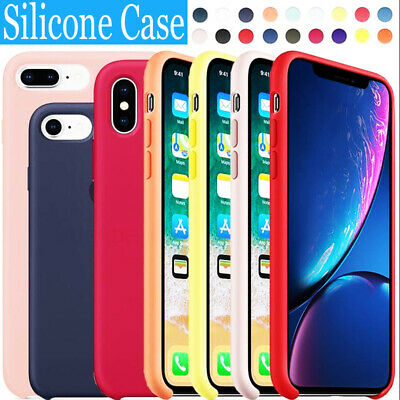 For Apple iPhone X XR XS Max 7 8 6S Original Silicone Genuine Luxury Case Cover