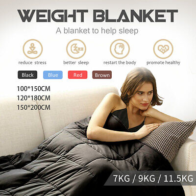 4.5/7/9/11.5 kg Weighted Blanket Heavy Sensory Sleep Relax Therap Cotton AU