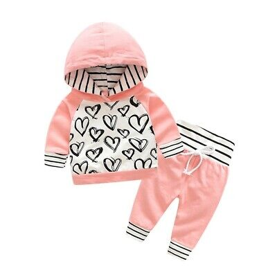 2pcs Kids Baby boys girls clothes top+pants cotton baby outfit