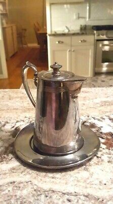 Antique Monarch Silver Co. Quadruple Creamer with Plate-both stamped 267