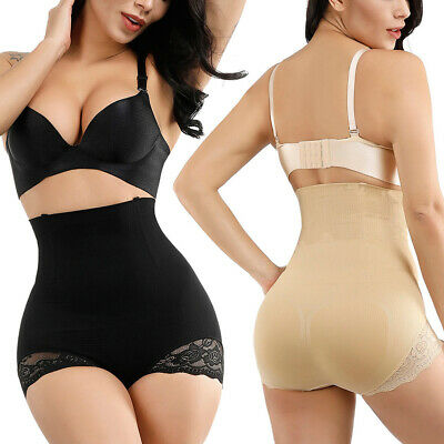 Women Lace Butt Lifter Panty High Waist Tummy Control Slim Body Shaper Shapewear