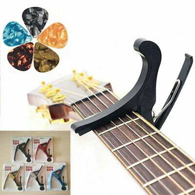 Guitar 5 Picks +Capo Tuner Clamp Trigger for Acoustic Electric Classical Ukulele