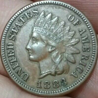 1883 United States of America Indian Head One Cent VF ac624