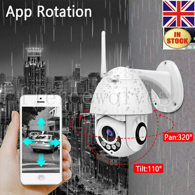 1080P HD Wireless WIFI IP Camera Security WHITE Outdoor CCTV Home IR Cam IP66 UK